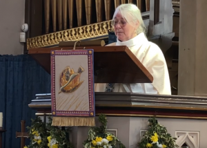 Veronica Hyden preached and celebrated communion